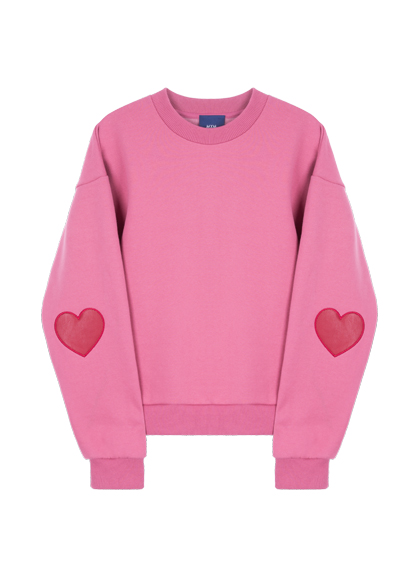MXM 15FW Heartパッチスウェット (ピンク)