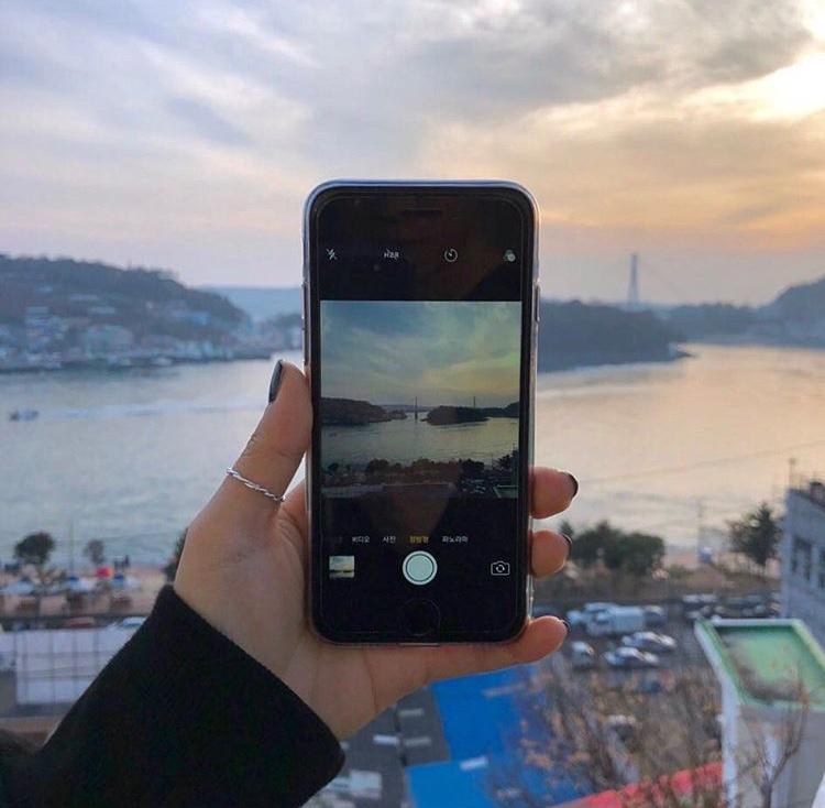 iPhone 空の写真