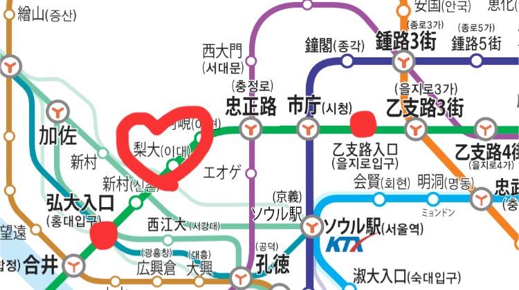 イデの立地 路線図