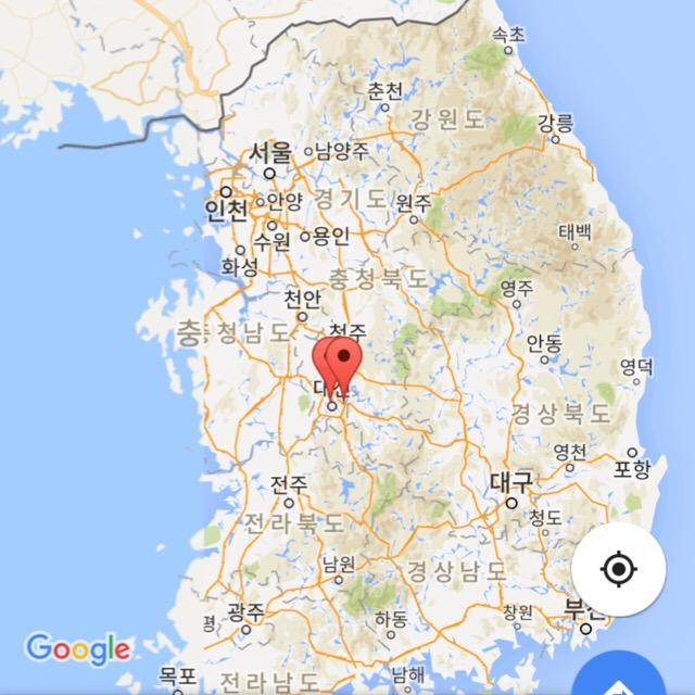 テジョン地図
