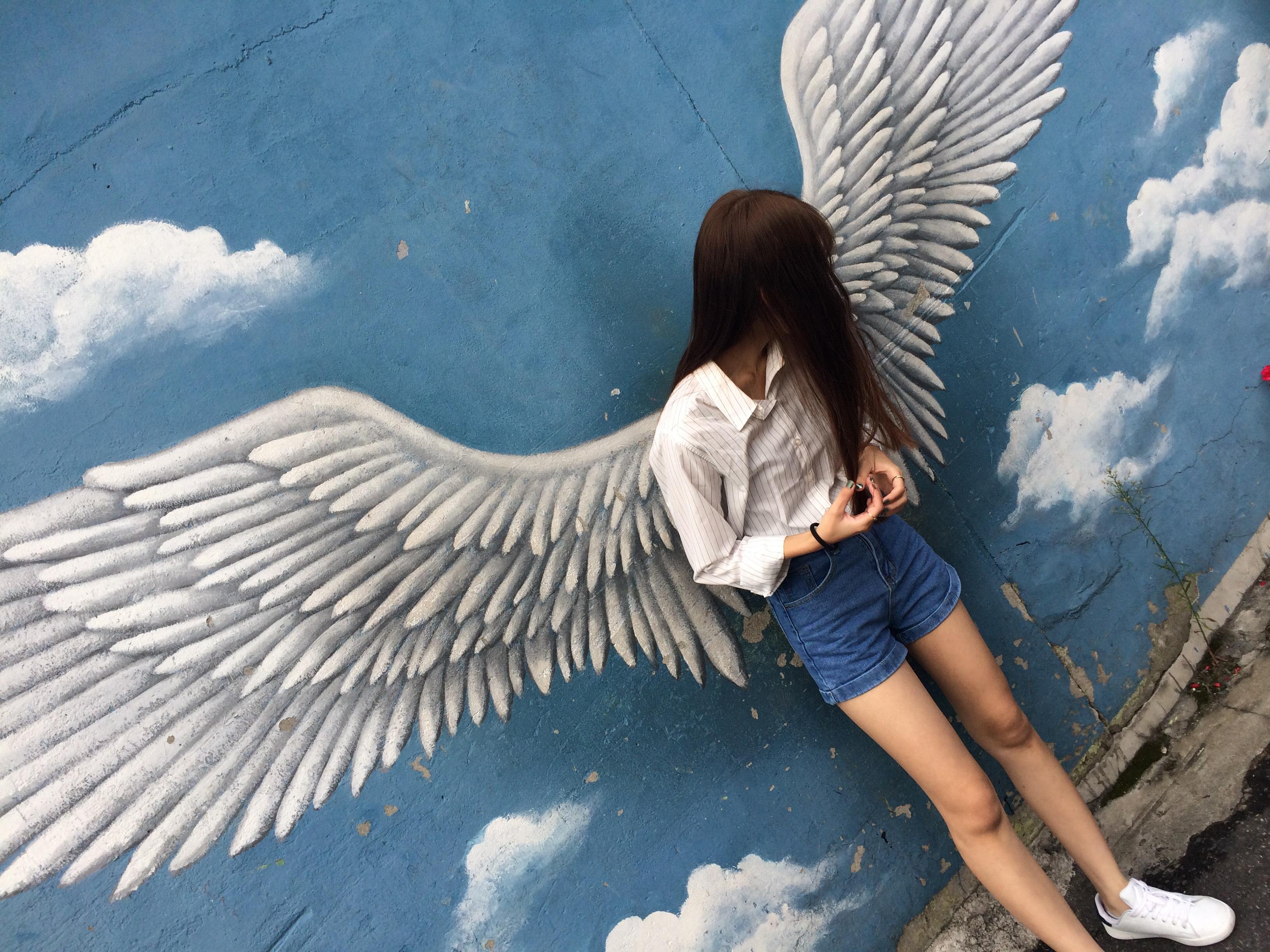 梨花洞壁画村 天使