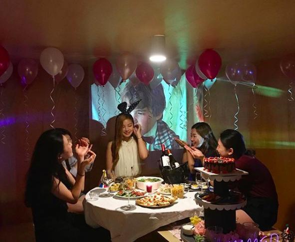韓国の誕生日会