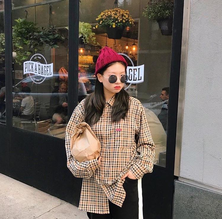 韓国 女の子 ニット帽