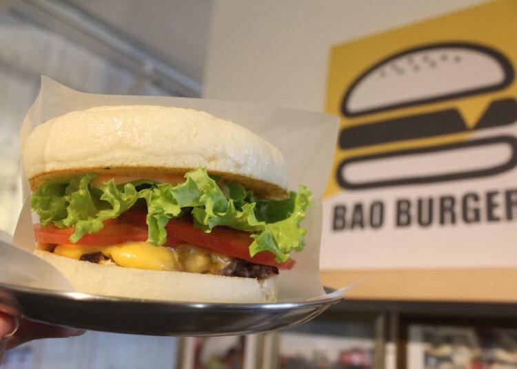白いハンバーガー