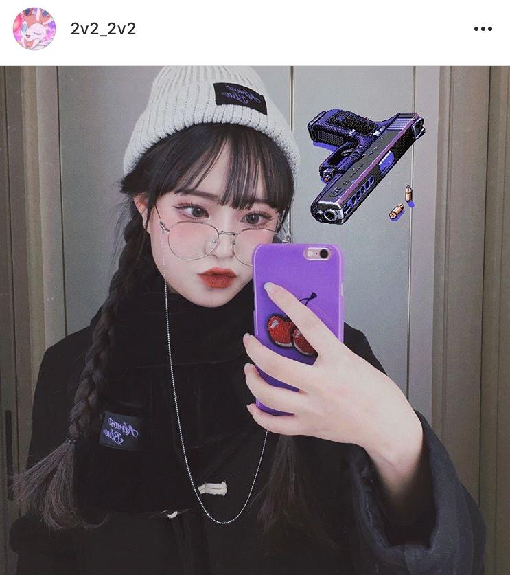 女子高生メガネの様子