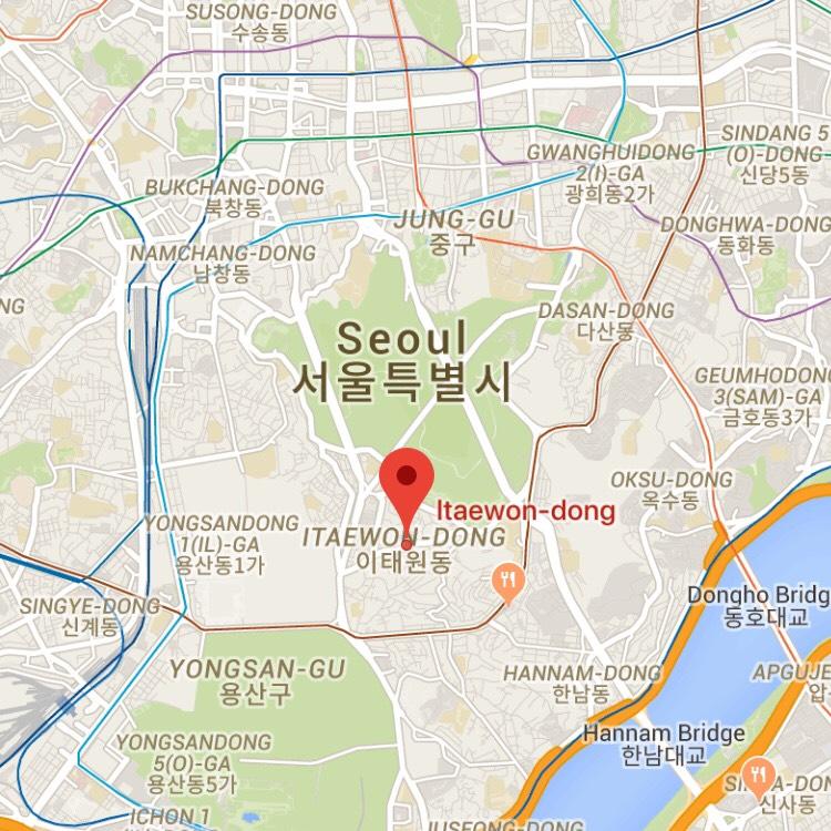 イテウォン マップ図